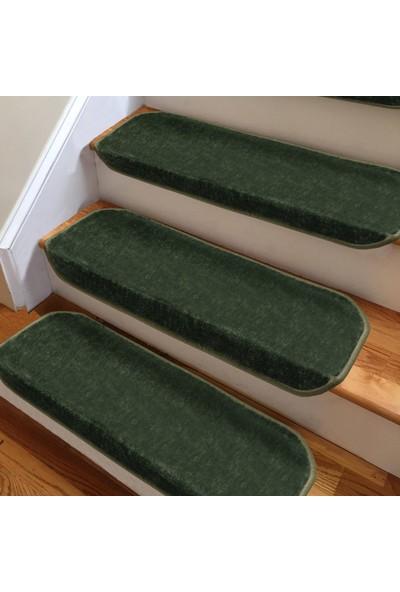 Stepmat Koyu Yeşil Kendinden Yapışkanlı Merdiven Basamak Paspası Halısı