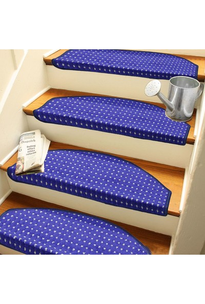 Stepmat Lacivert Kendinden Yapışkanlı Merdiven Basamak Paspası Halısı