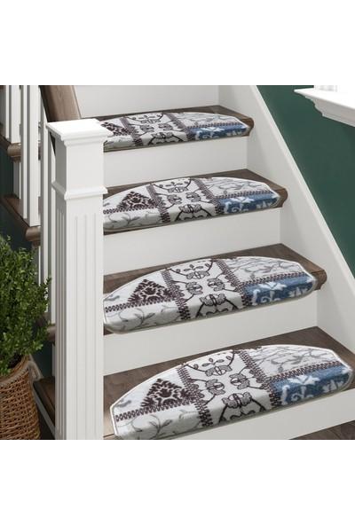 Stepmat Renkli Desenli Kendinden Yapışkanlı Merdiven Basamak Paspası