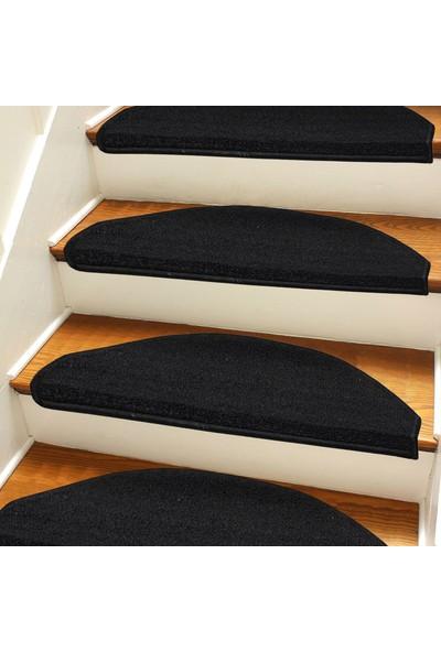 Stepmat Siyah Kendinden Yapışkanlı Merdiven Basamak Paspası Halısı