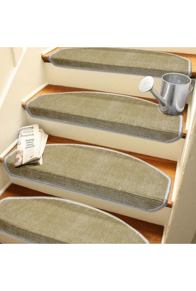 Stepmat Sütlü Kahvekendinden Yapışkanlı Merdiven Basamak Paspası Halısı