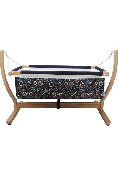 Makeart Baby Anne Yanı Organik Ahşap Bebek Beşik