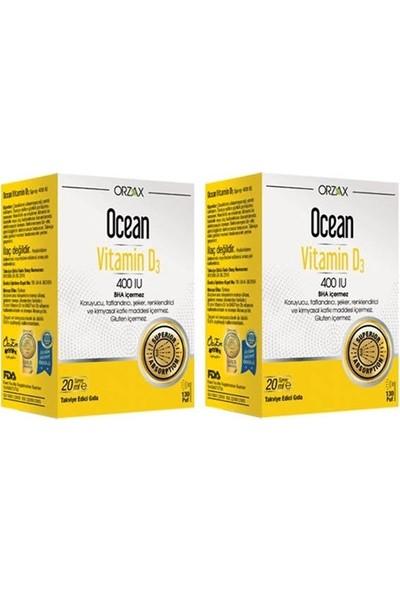 Orzax Ocean Vitamin D3 400 Iu 20 ml Sprey 2 Adet