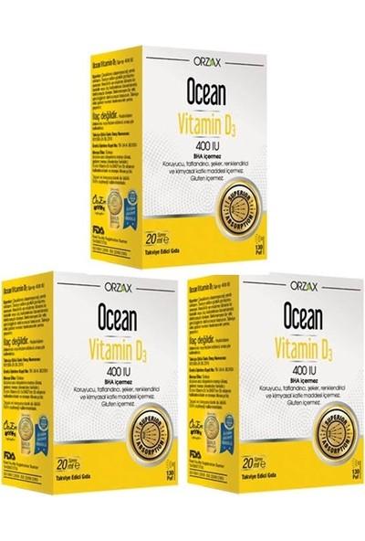 Orzax Ocean Vitamin D3 400 Iu 20 ml Sprey 3 Adet