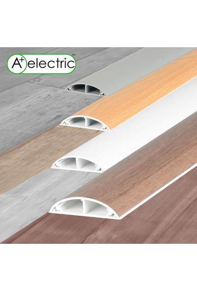 A Plus Elektrik 50 x 12 mm Balık Sırtı Bantsız Kablo Kanalı Beyaz 4 x 1 m
