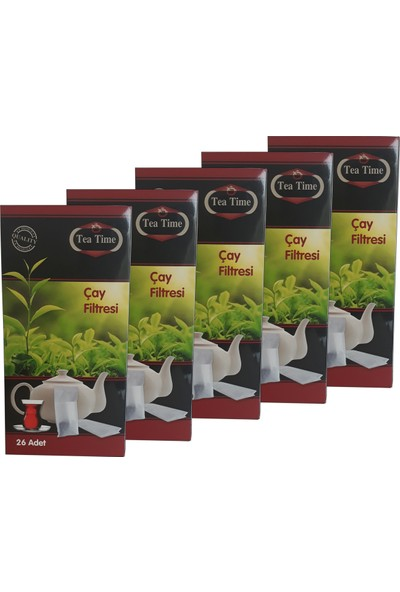 Tea Time Çay Demleme Poşeti Filtresi 20'li Paket 520 Poşet