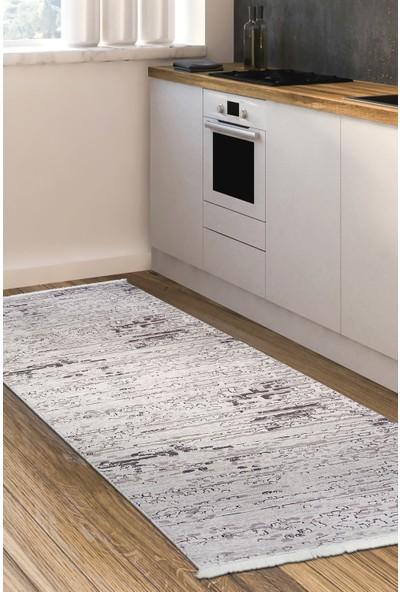 Diji Dekor Kaymaz Taban Dijital Halı Yıkanabilir Salon Banyo Antre Mutfak Halısı 9412 Vizon 80 x 50 cm