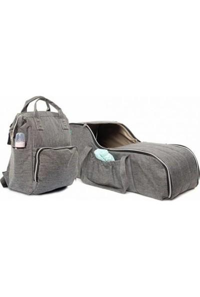 Trend Baby 2'li Taşıma Seti Portbebe ve Çanta Set Gri