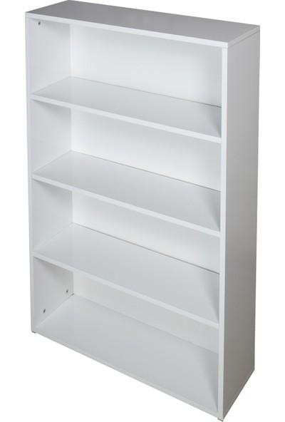 Alo Dolap 4 Raflı Kullanışlı Kitaplık - Beyaz