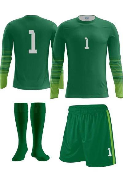 Freysport Active Yeşil Kaleci Forması Forma Şort Çorap