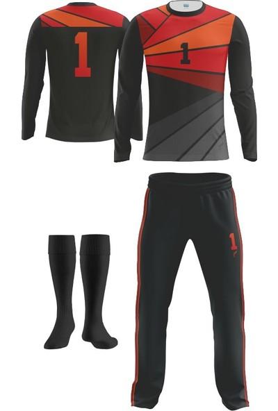 Freysport Solis Kırmızı Kaleci Forması Forma Uzun Alt Çorap