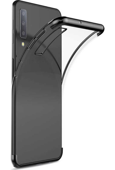 Case Street Alcatel 3X 2019 Kılıf Colored Silicone Yumuşak Siyah