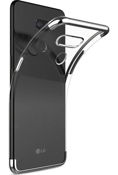 Case Street LG K50s Kılıf Colored Silicone Yumuşak Gümüş
