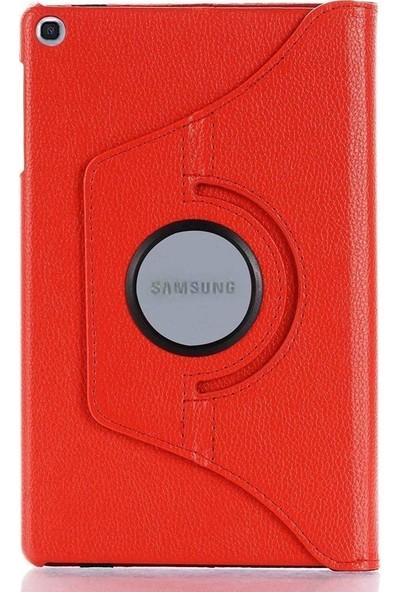 Case Street Samsung Galaxy Tab T290 Kılıf Dönerli Standlı Koruma Kırmızı