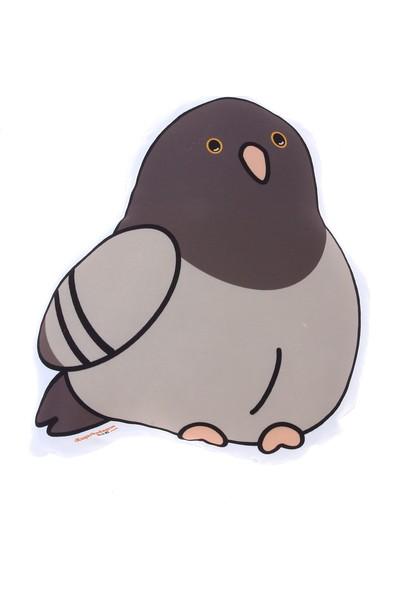Kuş Arkadaşım Güvercin 3 Boyutlu Yastık Kahverengi