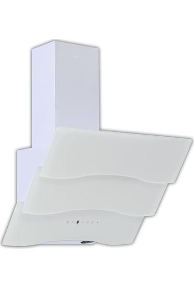 Ferre The New White Magician 3'lü Ankastre Set 2 (7001 Beyaz Multifonksiyon Fırın + B 2140 Ce Beyaz Cam Ocak + Spr 600 Beyaz Uzaktan Kumandalı Ankastre Cam Davlumbaz )