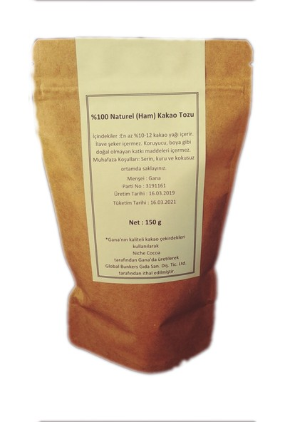 Best Quality Natural Ham Kakao Tozu 150 gr