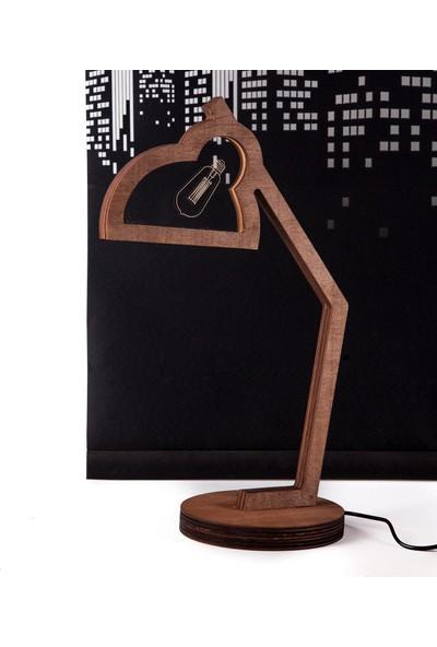Crudemade Tasarım Model Ahşap Klasik Masa Lambası