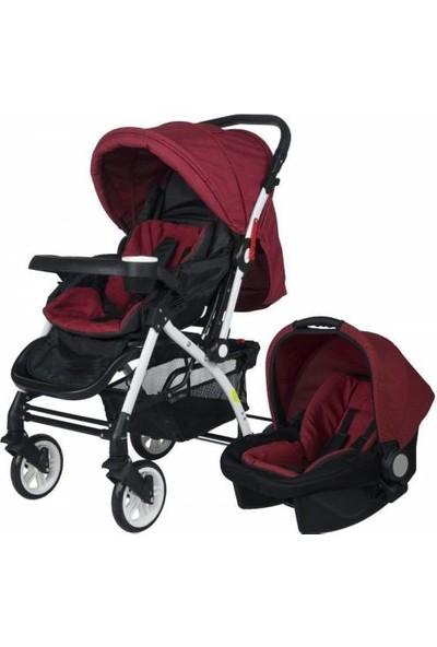 4 Baby Active Travel Sistem Bebek Arabası - Kırmızı