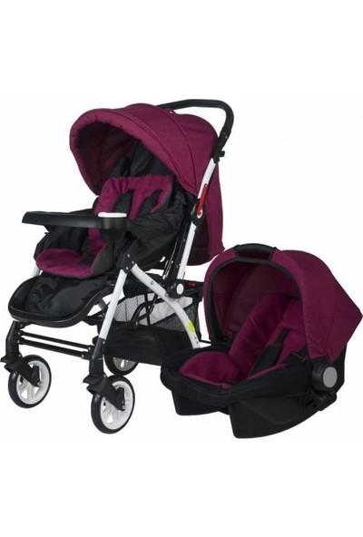 4 Baby Active Travel Sistem Bebek Arabası - Mürdüm