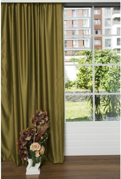 Caserta Home 1/2,5 Orta Pileli Blackout Karartma Güneşlik Perde V28 Haki Yeşil - 100 x 160 cm