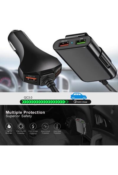 Judas Aadp5 Universal 4 Faz Hızlı Araç Şarj Adaptörü Siyah