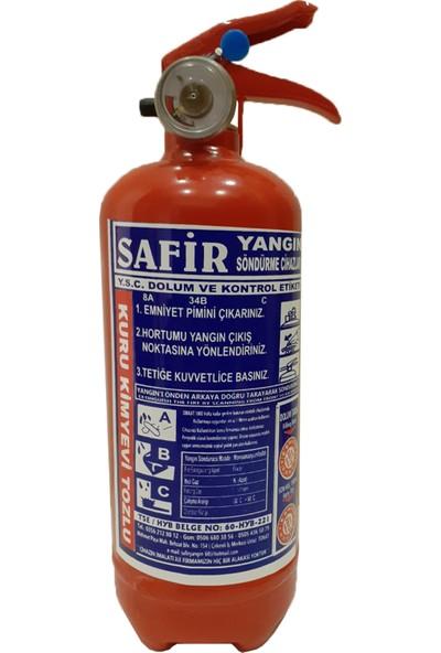 Safir Yangın Söndürücü 1 Kg Abc Tozlu %40 Map Tozlu -4 Yıl Süreli