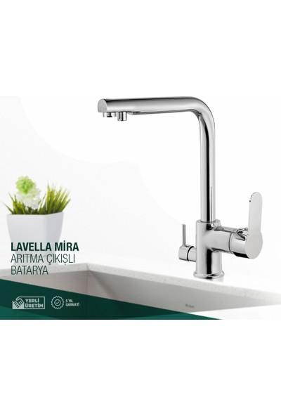 Lavella Mira Su Arıtma Çıkışlı 3 Çıkışlı Dual Flow Evye Mutfak Bataryası