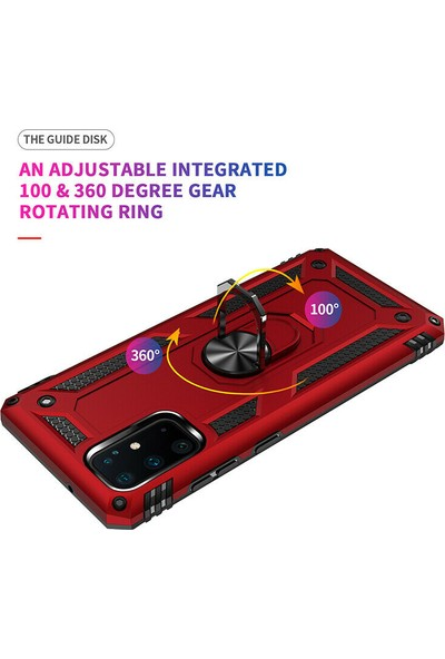 Happyshop Samsung Galaxy Note 10 Lite Kılıf Ultra Korumalı Yüzüklü Manyetik Vega Kapak+Cam Ekran Koruyucu