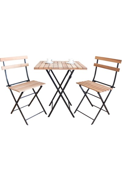 Yelken Mobilya Balkon Bistro Set 2 Sandalye 1 Masa Takım