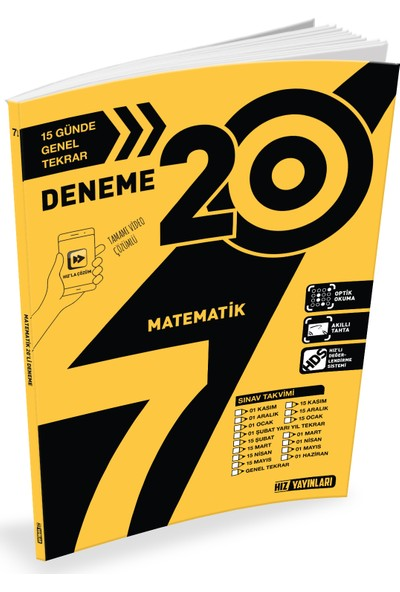 Hız Yayınları Matematik 7. Sınıf 20'li Deneme