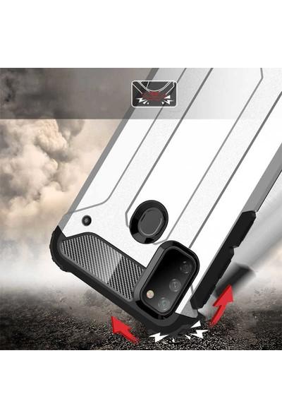 BizimGross Samsung Galaxy M30S Kılıf Zırh Tank Crash Telefon Kılıfı Siyah