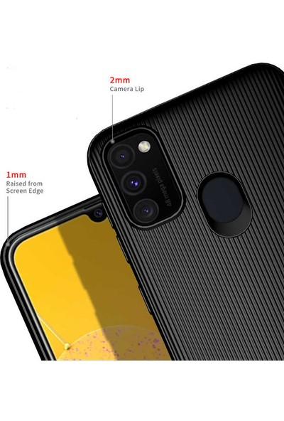 BizimGross Samsung Galaxy M30S Kılıf Şık Tasarım Harrow Telefon Kılıfı Siyah