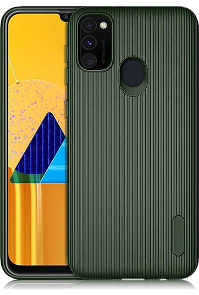 BizimGross Samsung Galaxy M30S Kılıf Şık Tasarım Harrow Telefon Kılıfı Koyu Yeşil