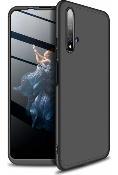 KNY Huawei Nova 5T Kılıf 3 Parça 360 Zore Ays Kapak+Cam Ekran Koruyucu