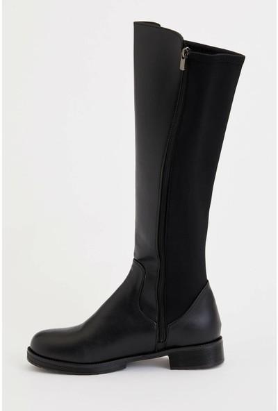 Defacto Kadın Suni Deri Uzun Çizme
