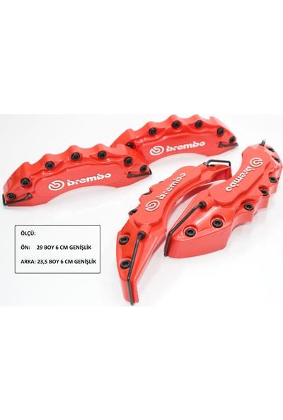 Tvet Brembo Yazılı Kırmızı Ön Arka Kaliper Kapak Seti T036372