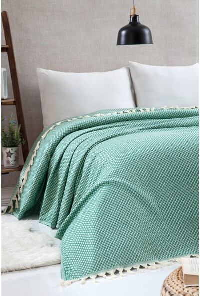 Miss Loya Battal Boy Peştamal Yatak Örtüsü Yeşil