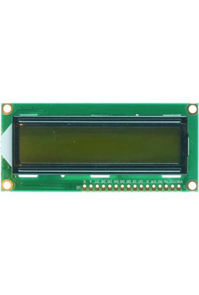My Robotech LCD Ekran 2X16 - Yeşil Üzerine Siyah