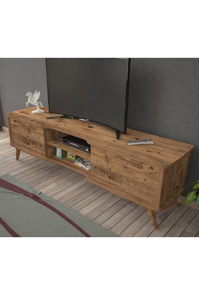 Ankara Mobilya Boreas Atlantik Çam 140 cm Tv Sehpası