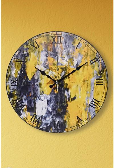 Muyika Melange Oval Ön Kısım Eskitme 36CM Duvar Saati