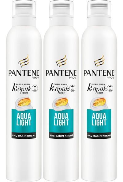 Pantene Köpük Saç Bakım Kremi Aqualight 3 x 180 ml