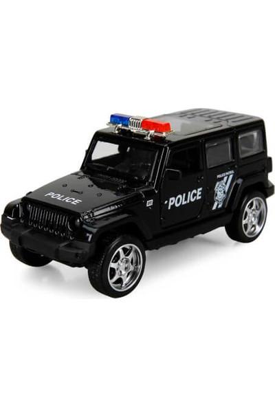 Maxx Whells Işıklı Polis Jipi 1:36 Ölçek Rubicon