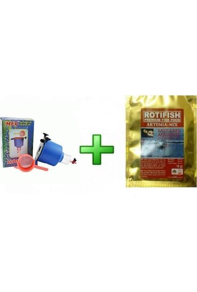 Meç Artemia Çıkartma Seti+2 Ad Rotifish Artemia Hediyeli