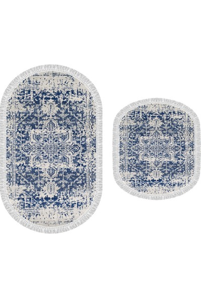 Decoling İpek 2069 Dekoratif Oval Klozet Takımı