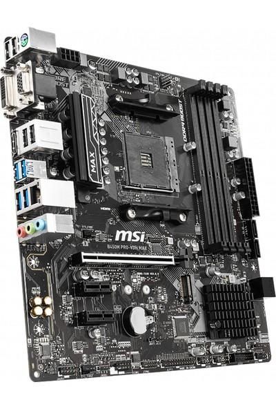 MSI B450M PRO-VDH Max AMD B450 3866MHz DDR4 AM4 Anakart