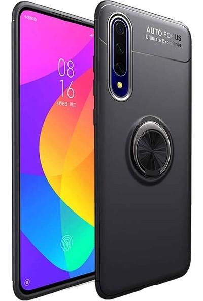 Teleplus Huawei P Smart Pro Kılıf Ravel Yüzüklü Standlı Silikon Siyah