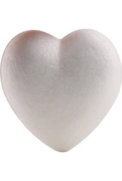 Vagon Boyanabilir Strafor Köpük Kalp 8 cm 10 Lu