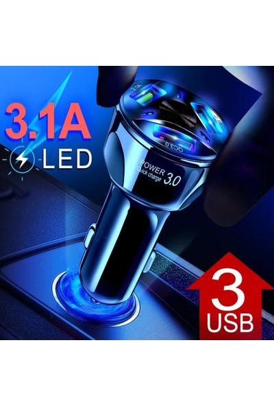 Judas Hızlı Araç Şarj Adaptörü Universal 32 W - Siyah