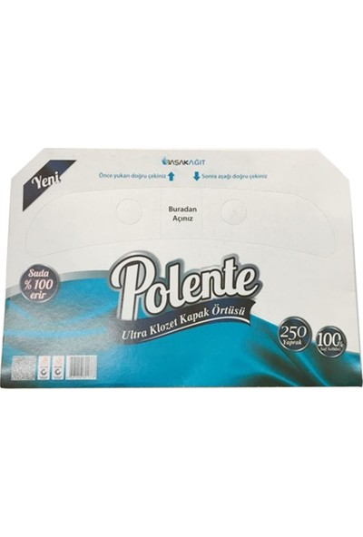 Polente Klozet Kapak Örtüsü 250'li 1 Paket
